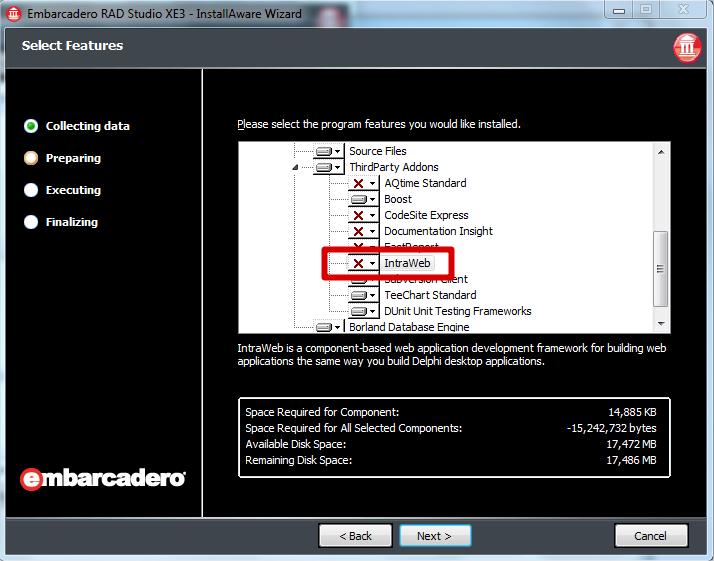 How do I install IntraWeb?   Atozed Software