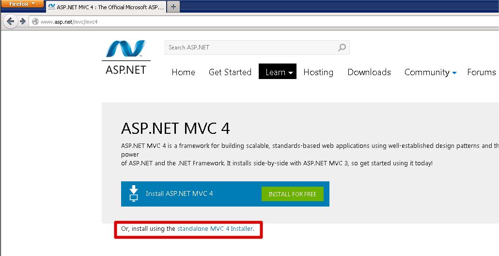 ASP.NET MVC download