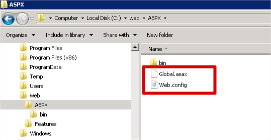 ASPX Folder Files